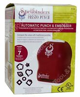 Spellbinder Hobby Presto Automatic Punch Machine Pp-001 Embosser W/ 7 Dies on sale