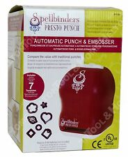 Spellbinder Hobby Presto Automatic Punch Machine PP-001 Embosser w/ 7 Dies New