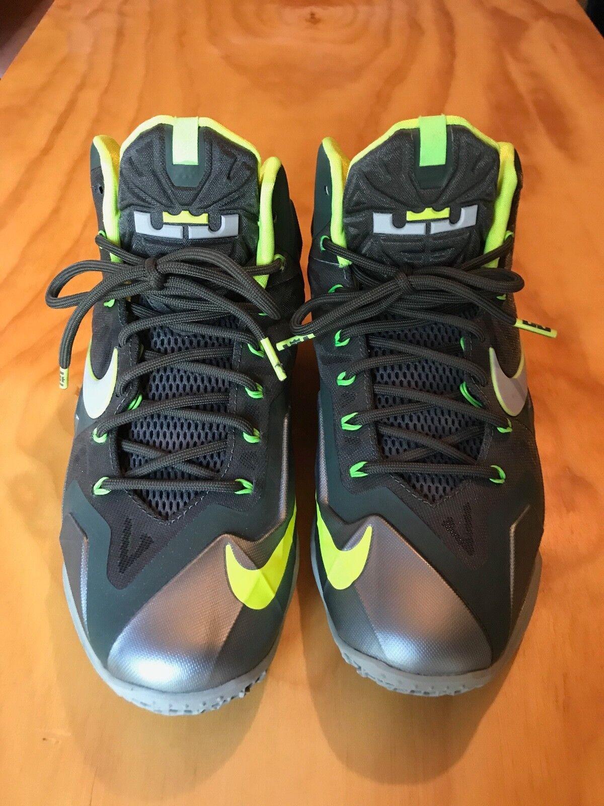 5d3db677546 NIke NIke NIke Lebron X Mens size 8 Sneakers Dunkman Seaweed Atomic Green  cd9a77