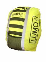Refelective Hi Viz Waterproof Rucksack Backpack Running Cycling Cover Lumopod