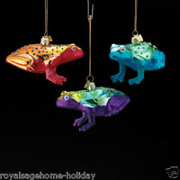 Nb0837 Noble Gems Bright Color Frog Glass Ornament Tropical Rain Forest Jungle