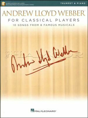 Andrew Lloyd Webber For Classical Players Trumpet Book/audio Same Day Dispatch
