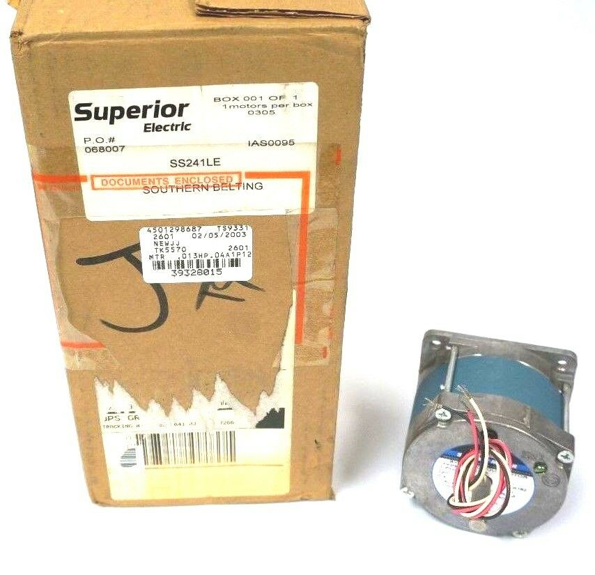 NEW SUPERIOR ELECTRIC SS241LE SYNCHRONOUS MOTOR 120V, .4AMP, 60 72RPM