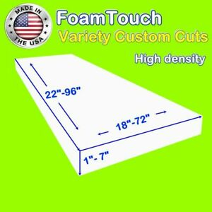 Details about Variety of FoamTouch High Density Custom Cut Upholstery Foam  Cushion Replacement