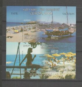 S36060 Turkish Cyprus 2004 Europa Cept MNH S/S Holydays Imperforated