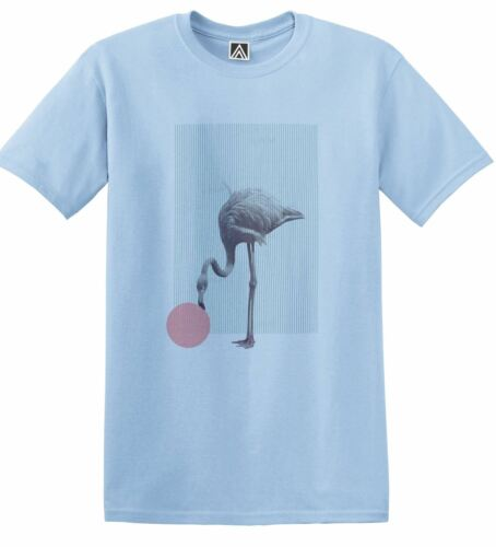 Flamingo Retro T-shirt Hipster Beach Style Tee 90s Indie Cool Palms Swag Top