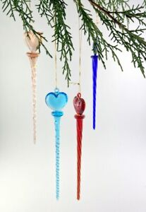 Glass-Drops-to-Hang-Twisted-At-Headrest-with-Heart-4-Various-Colours