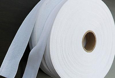 60mm THICK WHITE COTTON WEBBING HERRINGBONE APRON TAPE TRIM EDGING 1,2,5,Meter