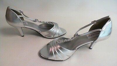 Nuevos Zapatos de novia/de noche: Dyeable-Makayla-Plata-us 12 B-UK 10 #19L597