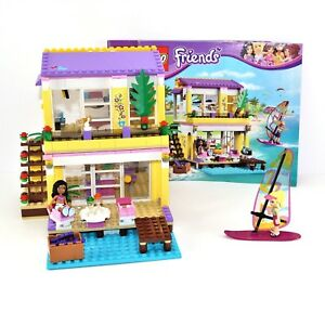 Lego Friends Stephanies Beach House Set 41037 Complete With
