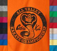 Cobra Kai Karate Kid Ringspun T-shirt Miyagi Mma Fighting Vintage Retro 80's Tee