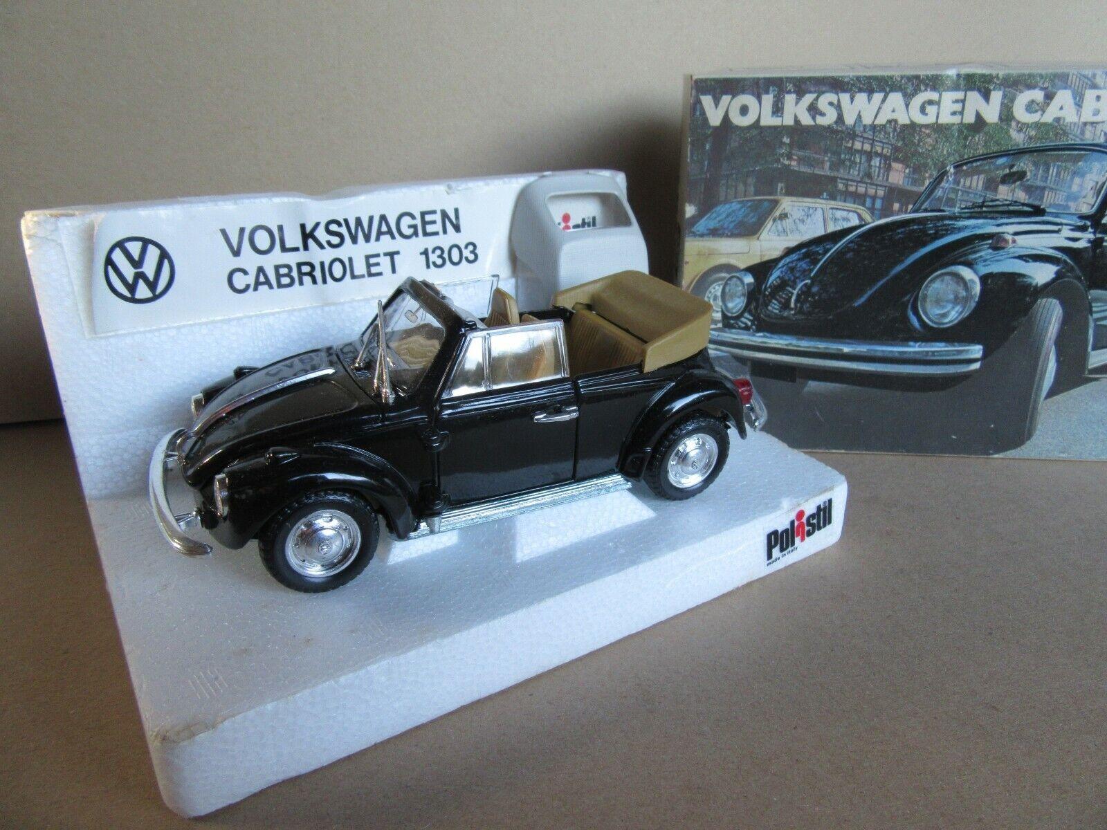 838L Polistil S15 Italien Volkswagen Cabriolet 1303 VW Schwarz 1 25