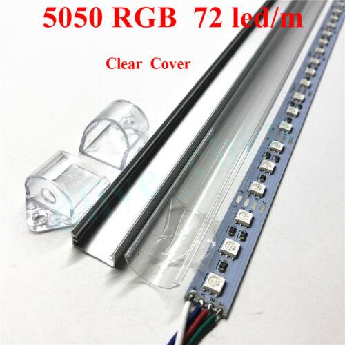 12V 5050 RGB LED Bar Light LED Strip U Shell Milky Clear Bar Love Hotel Lighting