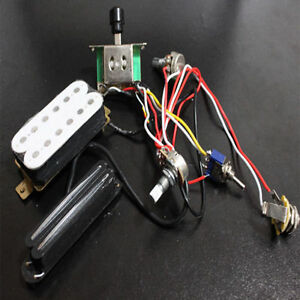 electric guitar wiring harness kit w humbucker twin coil pickup for rh ebay com
