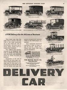 Vim Motor Truck Co Philadelphia Pa Delivery Car 9