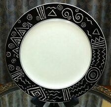 "Mikasa STAR TRACK Chop Plate 12 "" Round Platter 4104794 Black White"