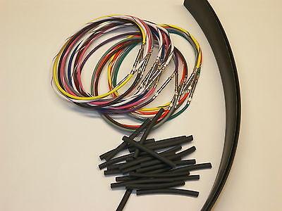 "Harley 8/"" wiring extension handlebar 24 wire 96-06 switch kit RADIO CRUISE CB"