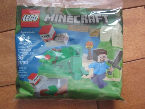 LEGO Minecraft #30393 STEVE and CREEPER Set 36 pcs Polybag Sealed NEW