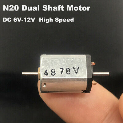 Mini Micro N20 Motor DC 5V-24V 12V High Speed 15mm Long 1mm Shaft  Worm Gear