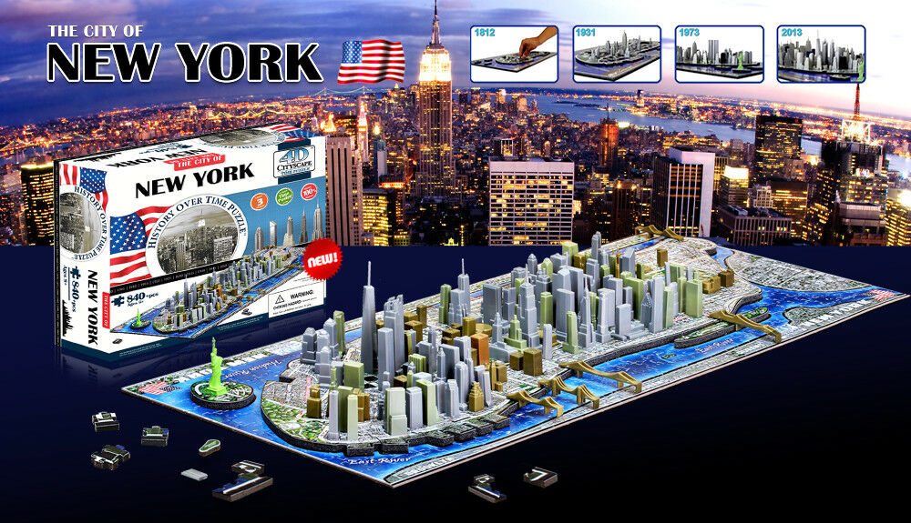 4D CITYSCAPE History City Over Time City History Series New York USA 840pcs 3D PUZZLE NEW 19dbe9