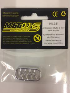 Mitoos M135 Borrani Style 3 Oreille Knock-off Pour Fil Jantes M026 Nouveau-afficher Le Titre D'origine