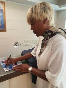 Amii-Stewart-Asta-Beneficenza-Rara-Foto-Autografata-Autografo-Signed-ITP-Music