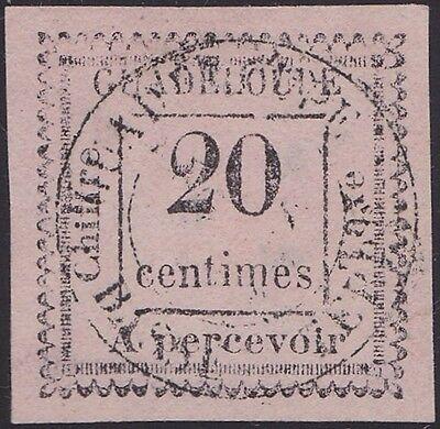 Alarm Guadeloupe : Taxe N°9a Oblitéré (2 Penché) Cote 1000€ Rare (tirage 100ex.) Professioneel Ontwerp