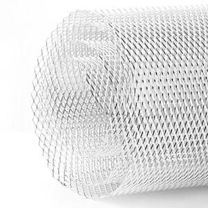 TKSE 3x6mm Aluminum Alloy Car Grille Mesh Sheet Grid Body Bumper Rhombic Grill Universal