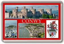 FRIDGE MAGNET - CONWY - Large - Wales TOURIST