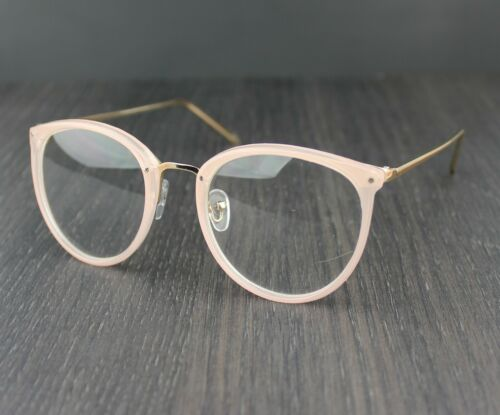 Womens Clear Lens Fashion Glasses Oval Lens Metal Temples