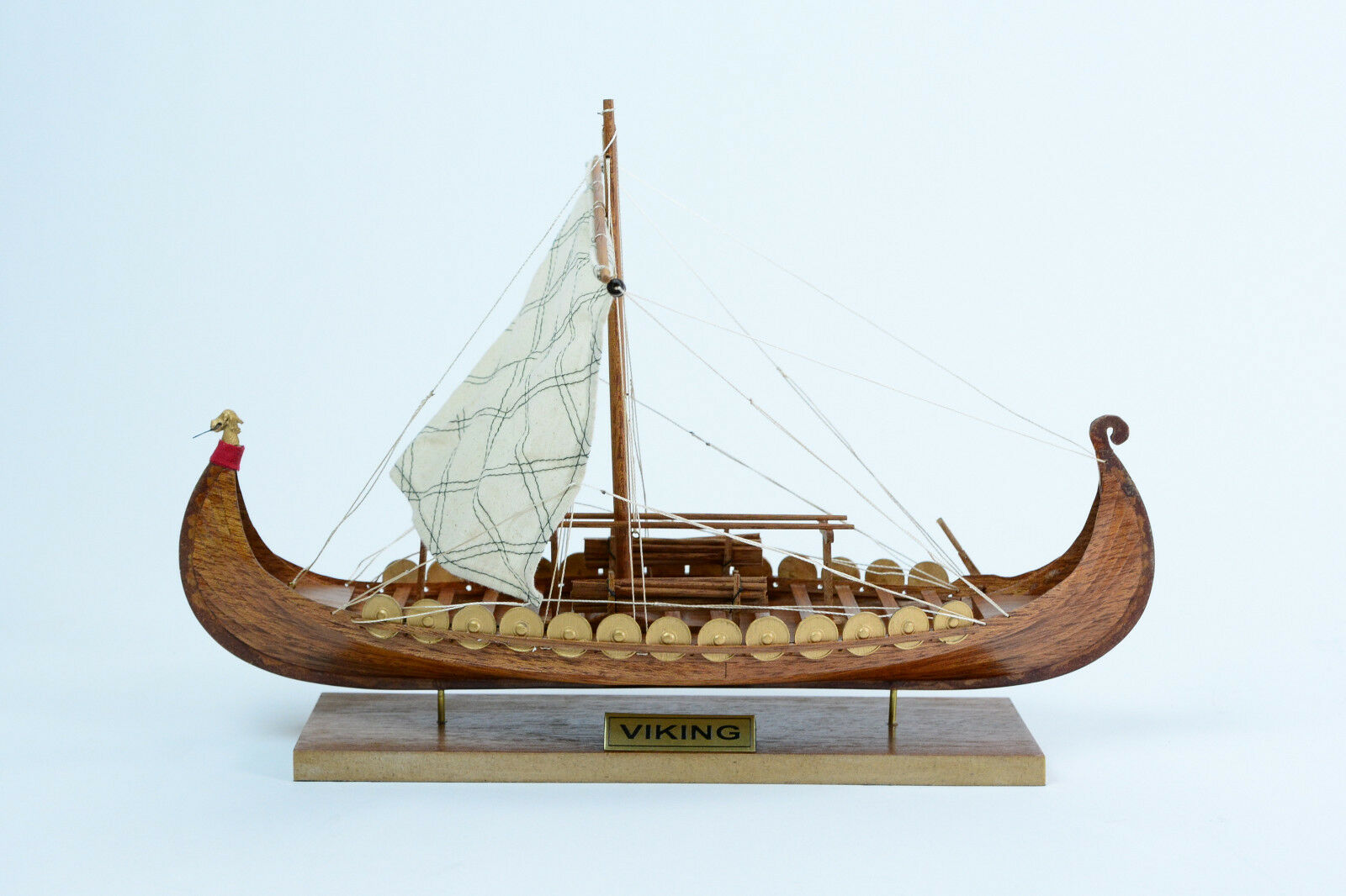 16 Built Clinker Handcrafted Viking Model Boat Wooden Owiu99d452795