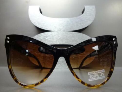OVERSIZE EXAGGERATED VINTAGE RETRO Cat Eye Style SUNGLASSES Black Tortoise Frame