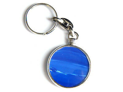 Planet Neptune Outer Space Galaxy Quality Chrome Keyring Picture On Both Sides Ampia Fornitura E Consegna Rapida
