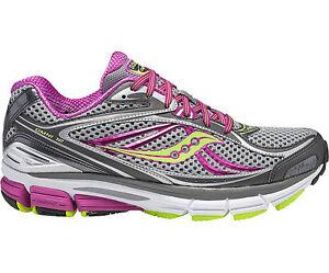 Details about Saucony Omni 12 10207 2 Women's Gray Purple Citron Running Shoes WIDE Widths