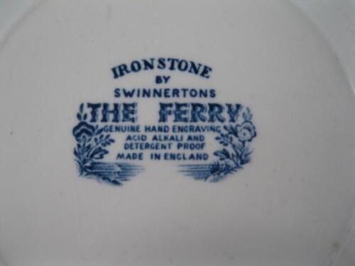 O3 The Ferry Blue Bread /& Butter Plate Ironstone By Swinnertons Scalloped Edge