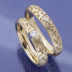 Schmale Ausgefallene Eheringe Trauringe Hochzeitsringe Aus 585