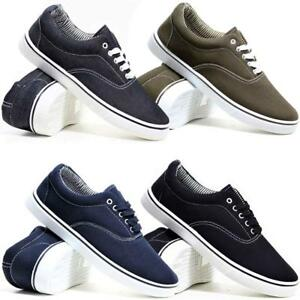 MENS-CANVAS-SHOES-NEW-CASUAL-DECK-PUMPS-PLIMSOLLS-RETRO-SKATE-GYM-TRAINERS-SIZE
