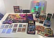 Huge YUGIOH Lot Cards English Japaneese Binder DVD Duel Mat Pin Tins & More