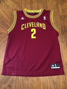 brand new 27910 5f946 Details about Men's Cleveland Cavs Kyrie Irving Red Jersey Adidas KIDS Sz L  EUC