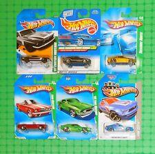 Hot Wheels Mustang Treasure Hunts - Lot of 6 - Damaged Cards