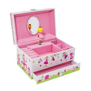 Image Is Loading Fairy Kids Musical Jewellery Box Pink Glittery