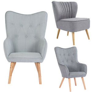 Image Is Loading Occasional Accent Bedroom Chair Wing High Back Armchair