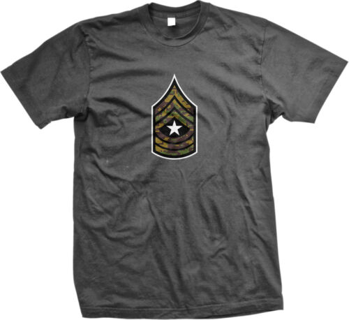 SALE Insignia Sergeant Major Army White Star Honor Respect Tough Proud T-shirt