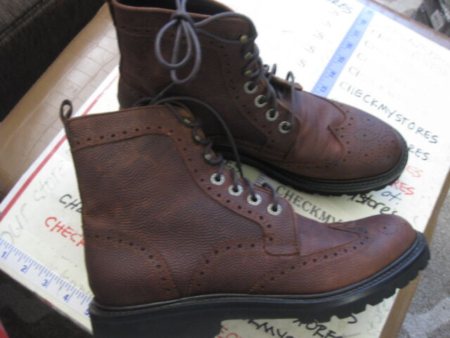 b149968de71 Wolverine Percy Wingtip Leather Lace up Men`s BOOTS Brown Size 9