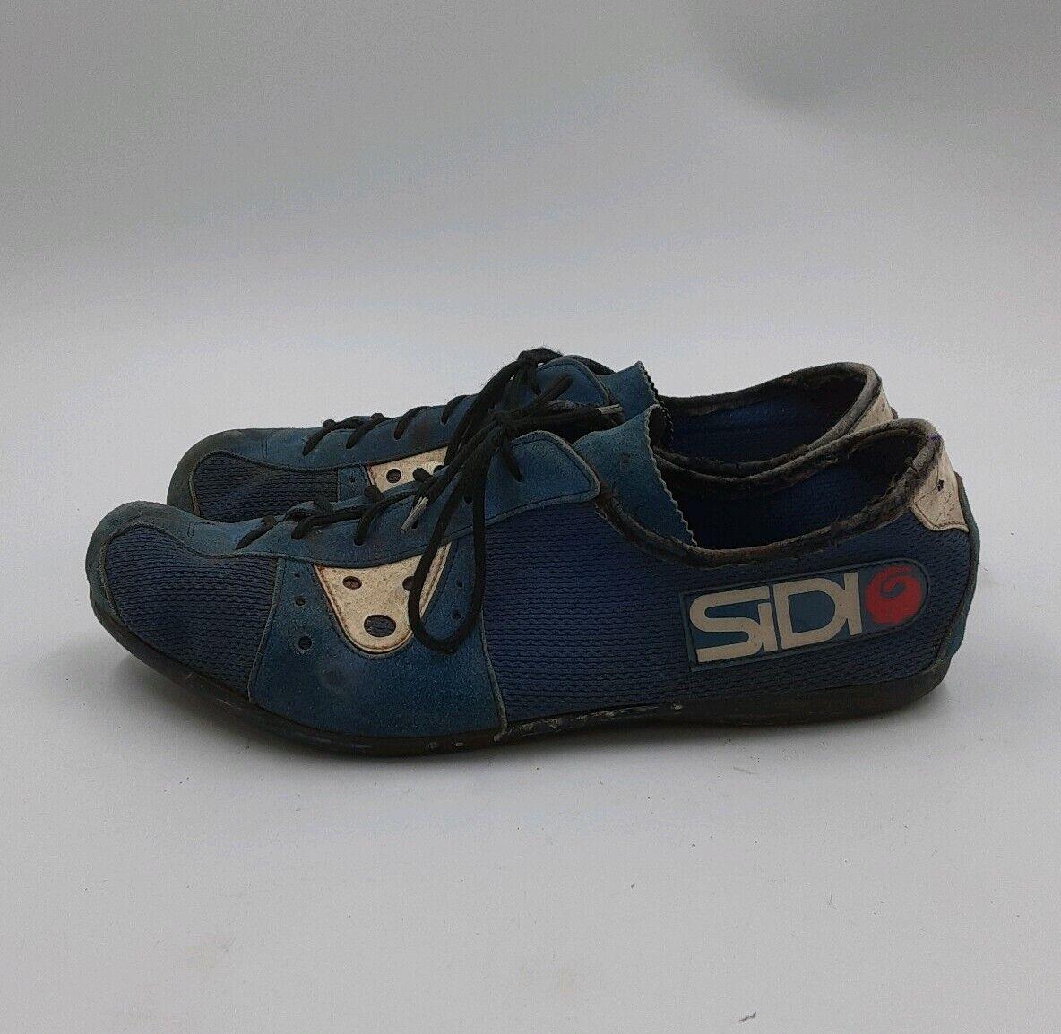SIDI Vintage Cycling Biking scarpe uomo Dimensione 42 EU 9 US Vero Cuoio Made in