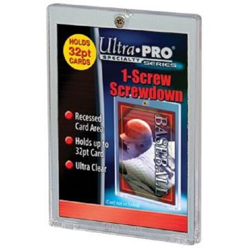 200 Ultra Pro 1 Screw Screwdown Recessed 32pt Sports Card Holder No PVC CASE