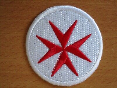 LOT 4 ECUSSON PATCHE THERMOCOLLANT BIKER CROIX DE MALTE cross of maltese