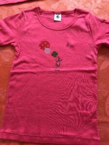 neuf-PETIT-BATEAU-tee-shirt-fille-6-ans-034-j-039-attends-quelques-amis-034-princesse