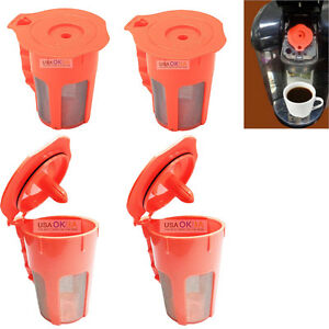 4-Reusable-K-Carafe-K-Cup-Coffee-Filter-Pod-For-Keurig-2-0-K200-K400-K450-K550