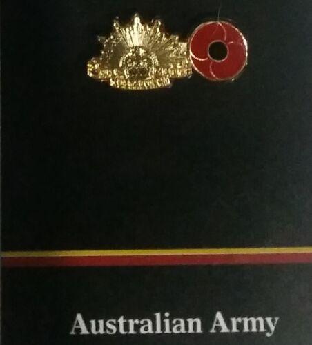 THE AUSTRALIAN ARMY 2018 NEW POPPY RISING SUN LAPEL PIN